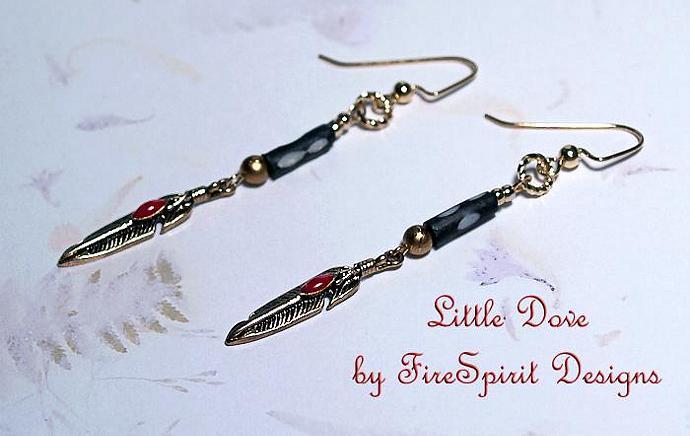 Little Dove- handmade artisan earrings