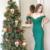 Sheath Off-the-Shoulder Sweep Train Green Stretch Satin Prom Dress,2874