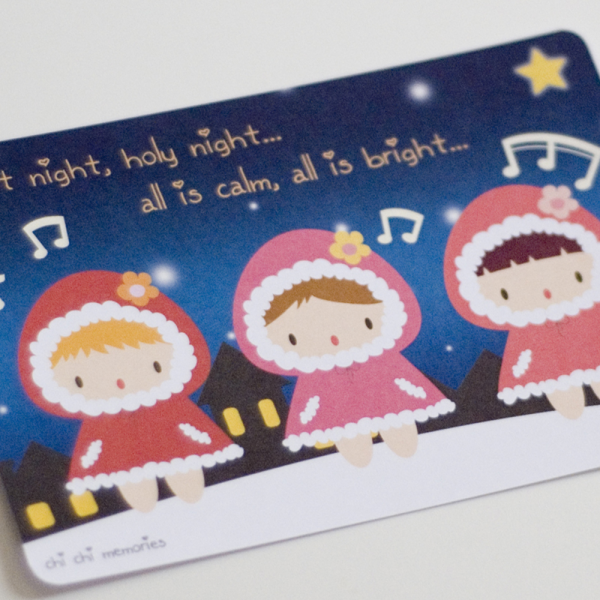 Chi Chi Babies X'mas carol Post Cards - Set of 3