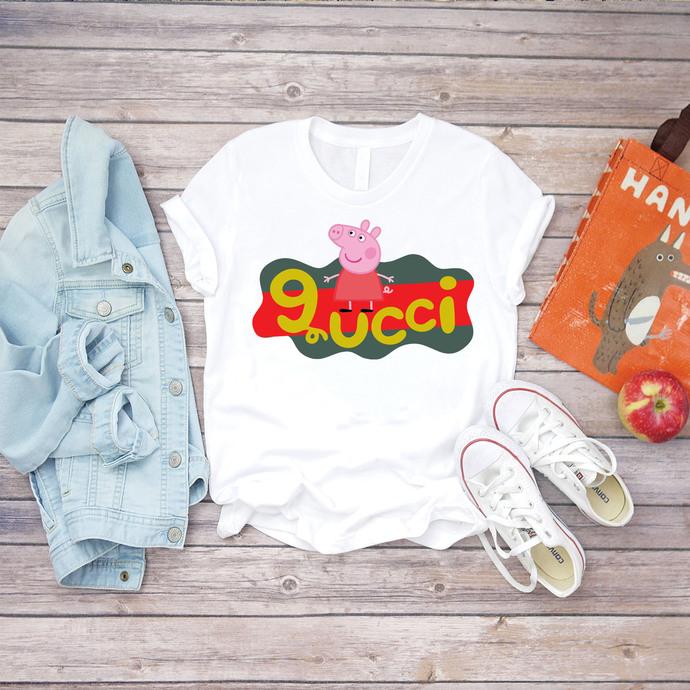 Peppa pig, peppa pig design, disney, gucci design, Gucci, Gucci Shirts, Gucci