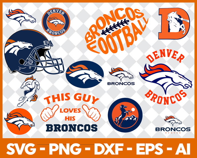 Denver Broncos svg, Denver Broncos digital, Denver Broncos silhouette cut files,