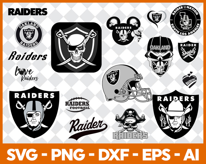 Oakland Raiders svg, Oakland Raiders digital, Oakland Raiders silhouette cut