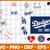 LosAngeles Dodgers svg, LosAngeles Dodgers digital, LosAngeles Dodgers
