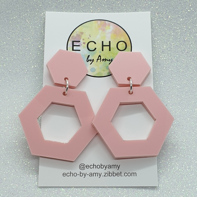 Pale Pink Hexagons