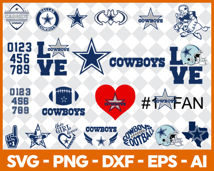 Dallas Cowboys svg, Dallas Cowboys digital, Dallas Cowboys silhouette cut files,