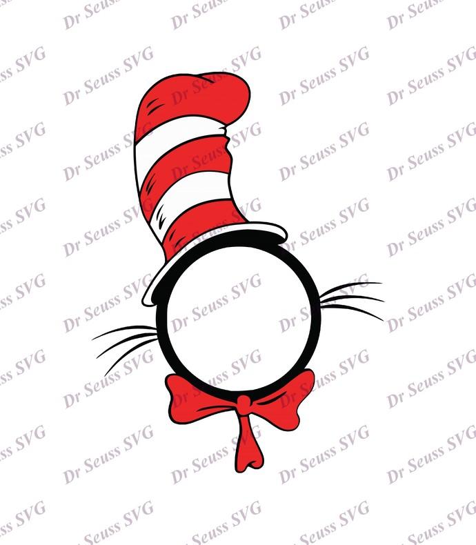 Dr Seuss Cat in The Hat Monogram SVG 1, svg, dxf, Cricut, Silhouette Cut File,
