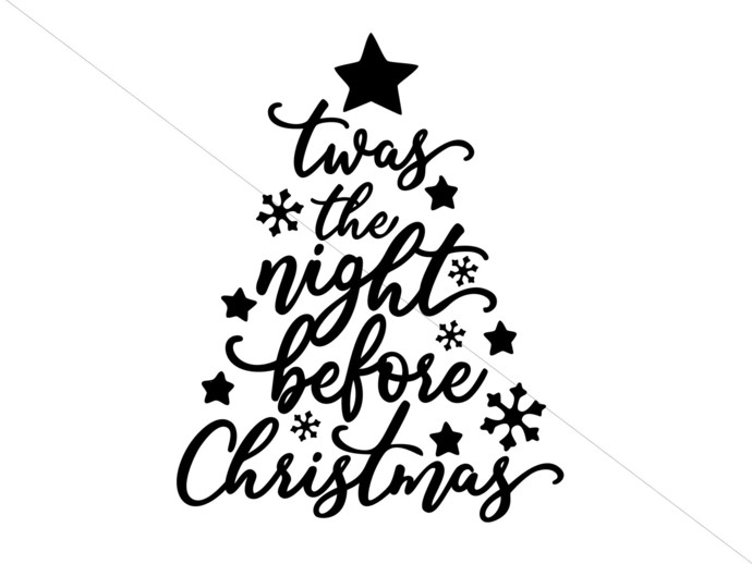 Twas the Night Before christmas svg png studio 3 Main and Mouse Designs