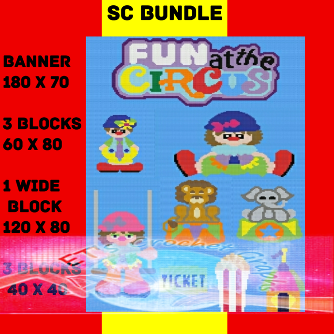 Circus Bundle SC  - includes graphs with written color chart