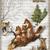 Christmas Fox Sledding Digital Collage Greeting Card434