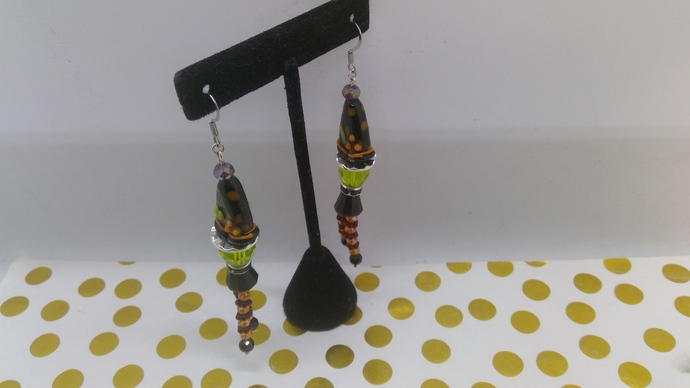 """DIY Earring Kit to build these pair of """"WITCH"""" statement earrings"""