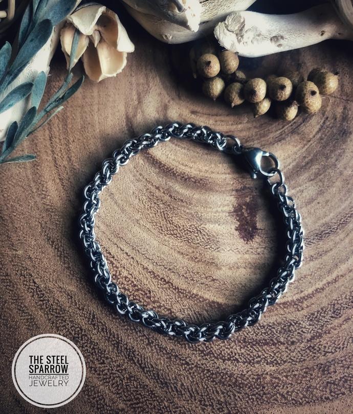 Stainless Steel Spiral Bracelet