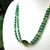 Faceted green jade necklace, gold and green focal piece, 25 inch necklace with