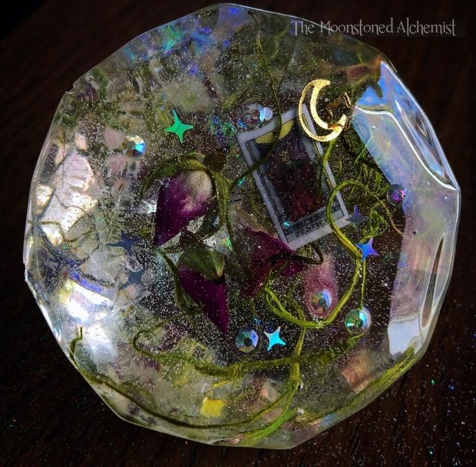 Justice Tarot Botanical Diamond
