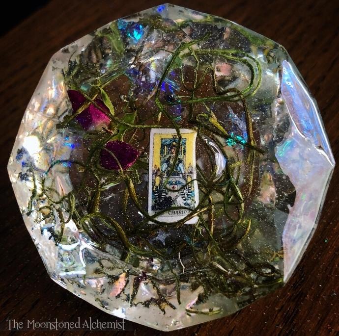 The Chariot Tarot Botanical Diamond