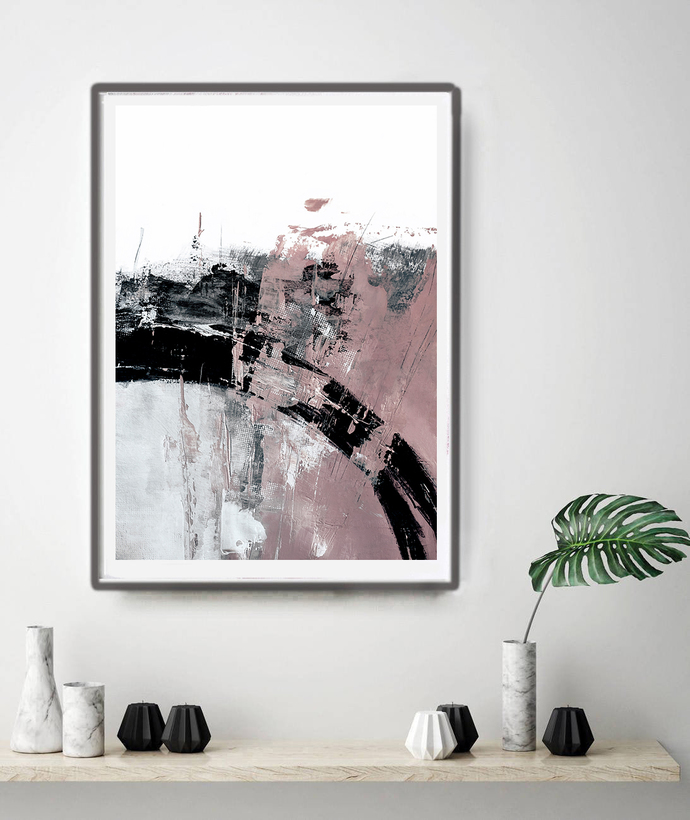 Printable Art, Art Poster, Digital Download, Wall Decor,blush pink and white,