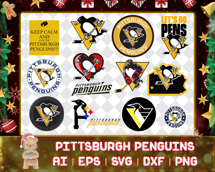 Pittsburgh Penguins svg, Pittsburgh Penguins digital, Pittsburgh Penguins