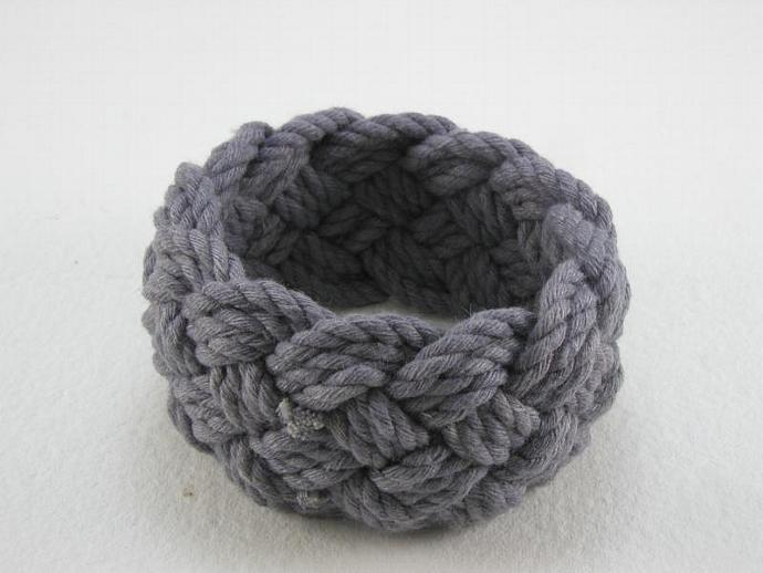 blue grey rope bracelet turks head knot sailor bracelet 1589