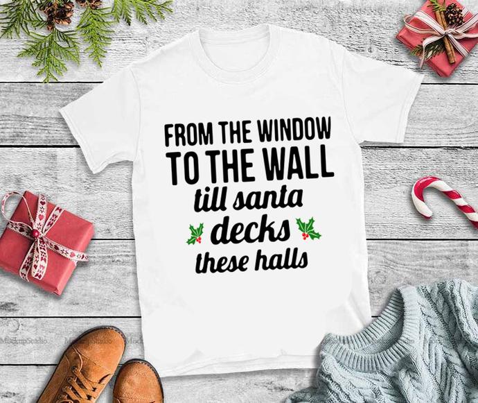 Christmas svg, santa design, santa svg, To the window to the wall til Santa