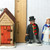 Lefton Colonial Village Doctor Nurse Outhouse Figurines Ceramic Christmas Decor
