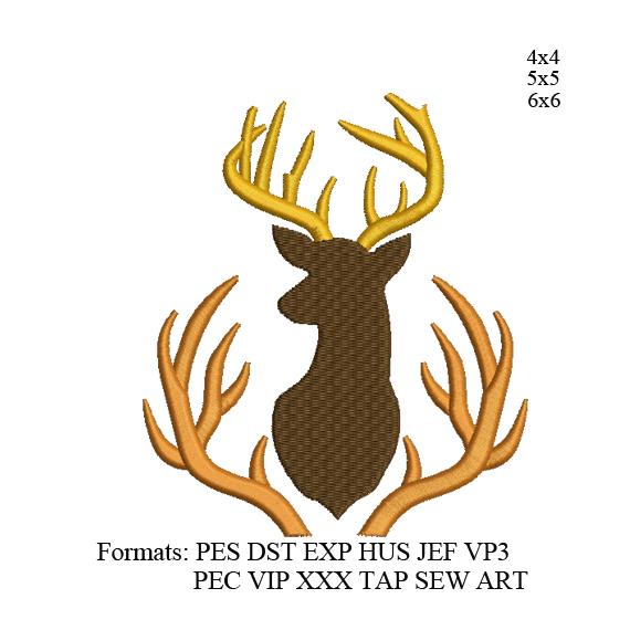 Deer antlers embroidery design,Deer embroidery design Deer antlers embroidery