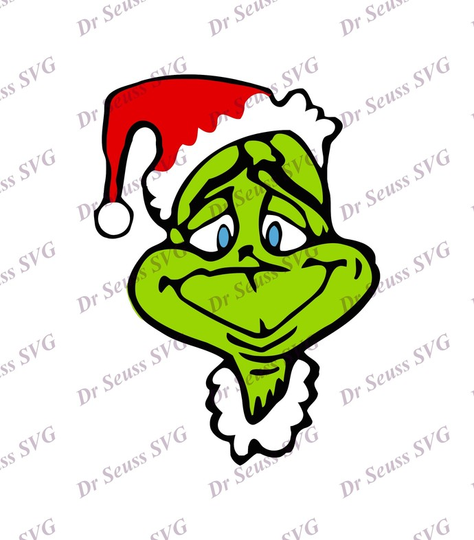 Grinch With Christmas Hat SVG 5, svg, dxf, Cricut, Silhouette Cut File, Instant