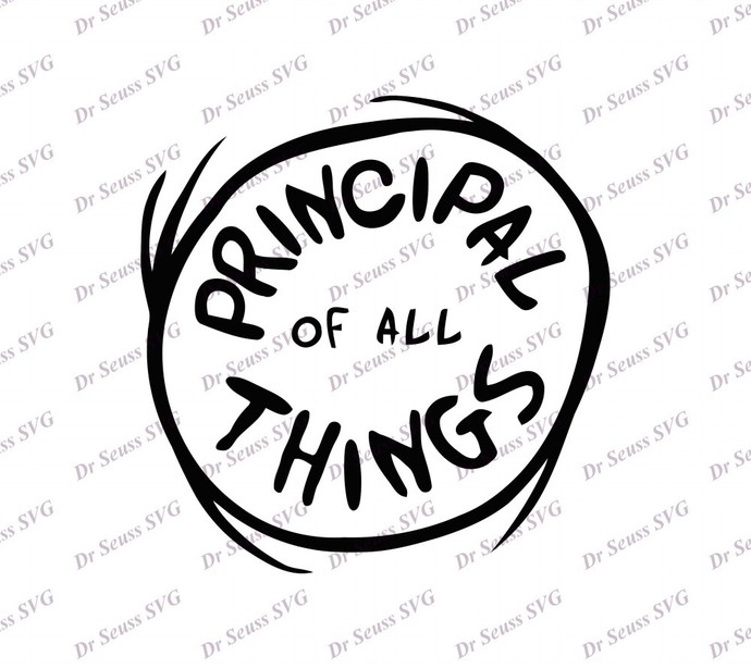 Principal I Am SVG 2, svg, dxf, Cricut, Silhouette Cut File, Instant Download