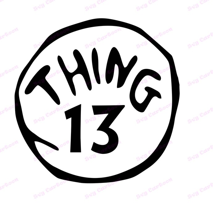 Dr Seuss Thing Thirteen SVG, svg, dxf, Cricut, Silhouette Cut File, Instant