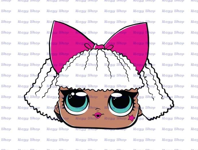 Diva LOL Dolls Surprise SVG 1, svg, dxf, Cricut, Silhouette Cut File, Instant