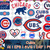 Chicago Cubs svg, Chicago Cubs digital, Chicago Cubs silhouette cut files,