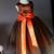 Tutu Dress, Flower Girl's Dress, Lace Satin and Tulle Dress, Orange and Black