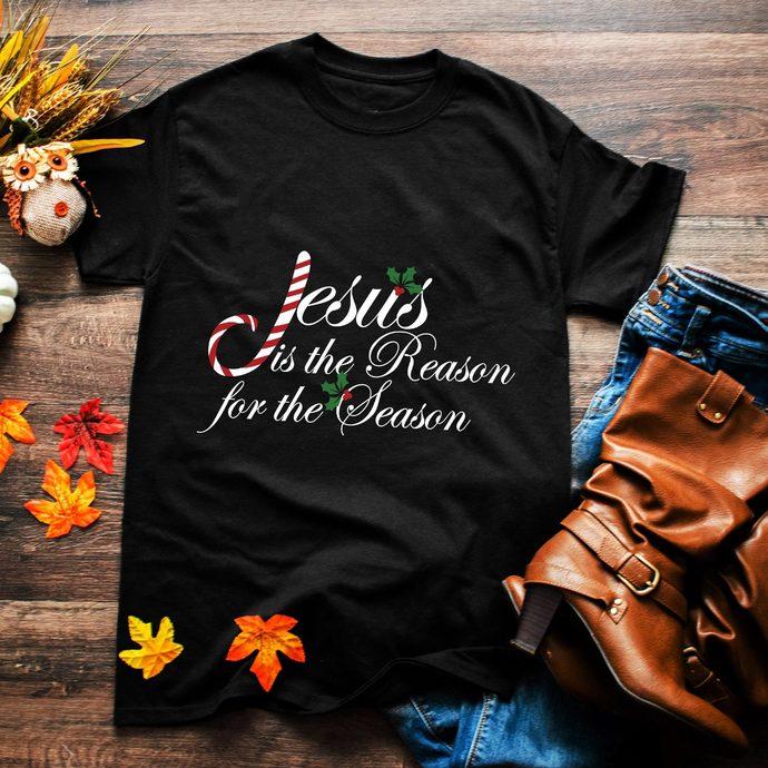 Jesus is he reason for the season, christmas candy, religion shirt, jesus, jesus