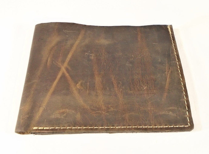 Leather wallet, Men's wallet, Cards wallet, Hanoverian Brown
