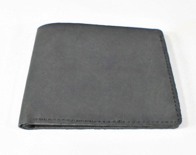 Leather wallet, Men's wallet, Cards wallet, Henson Black