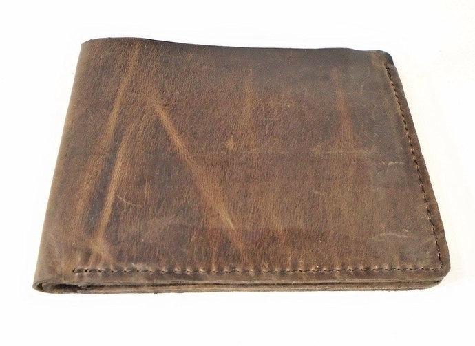 Leather wallet, Men's wallet, Cards wallet, Henson Brown