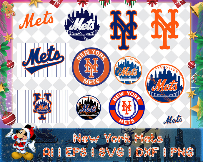New York Mets svg, New York Mets digital, New York Mets silhouette cut files,