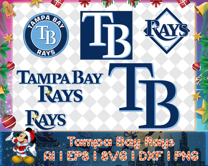 Tampa Bay Rays svg, Tampa Bay Rays digital, Tampa Bay Rays silhouette cut files,