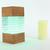 Liquorice - a boudoir lamp, cube lamp, desk lamp