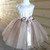 Champagne Tutu Dress, Flower Girl's Dress, Lace Satin and Tulle Dress