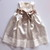 Ivory Dress, Flower Girl's Lace and Satin Dress