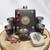 Pirate Treasure Flask Set Pocket Watch n Mini Tin Black n Bronze 50% Off Sale