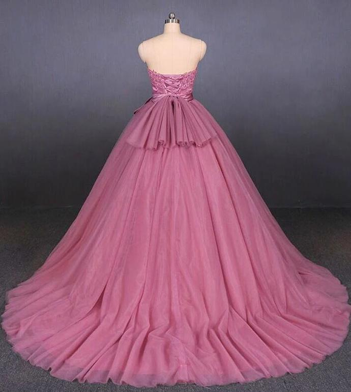 Beautiful Pink Tulle Sweet 16 Gown, Pink Formal Dress