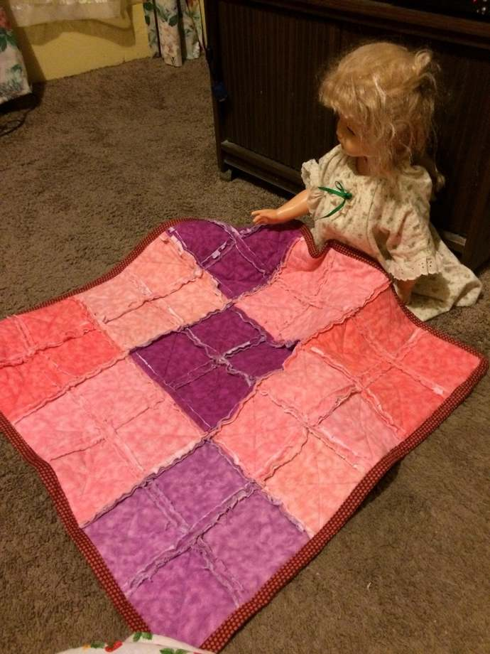 Pink and Pert Rag Quilt