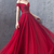 Beautiful A Line Off the Shoulder Red Prom Dresses with Appliques Beading