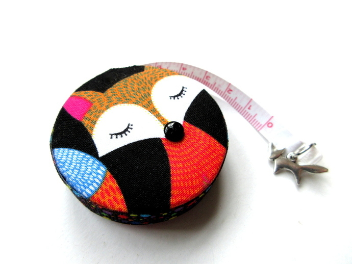 Small Tape Measure with Colorful Foxes Retractable Measuring Tape