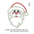 Santa Claus applique Embroidery Design, Santa embroidery pattern, christmas