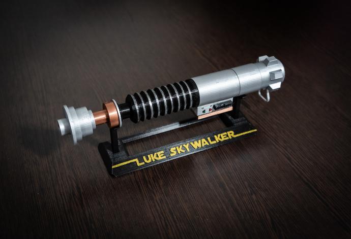 Luke Skywalker Lightsaber Hilt Star By Fan Art And Cosplay On Zibbet