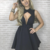 Simple High Neck Cutout Satin Black Pleated Homecoming Dress