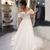 Sweetheart Off Shoulder A Line Wedding Dresses Lace Appliques Bridal Gown
