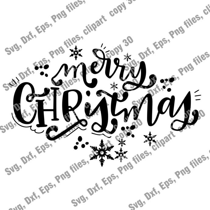 Christmas Cut file, Merry Chrismas SVG, Christmas Svg, Instant Download, Eps,