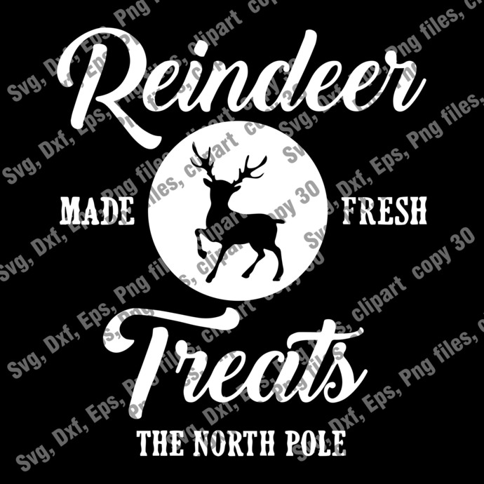 Christmas Cut file, Reindeer Made Fresh Treats The North Pole SVG, Christmas